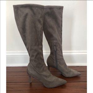 Nine West Grey Heeled Boots Size 9